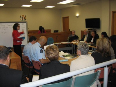 Judge Peggy Hora with the Alcohol or Other Drug Treatment Court in New Zealand being trained