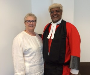 Supervising Magistrate and drug court judge Juan Wolff, Bermuda with Judge Peggy Hora (Ret.)
